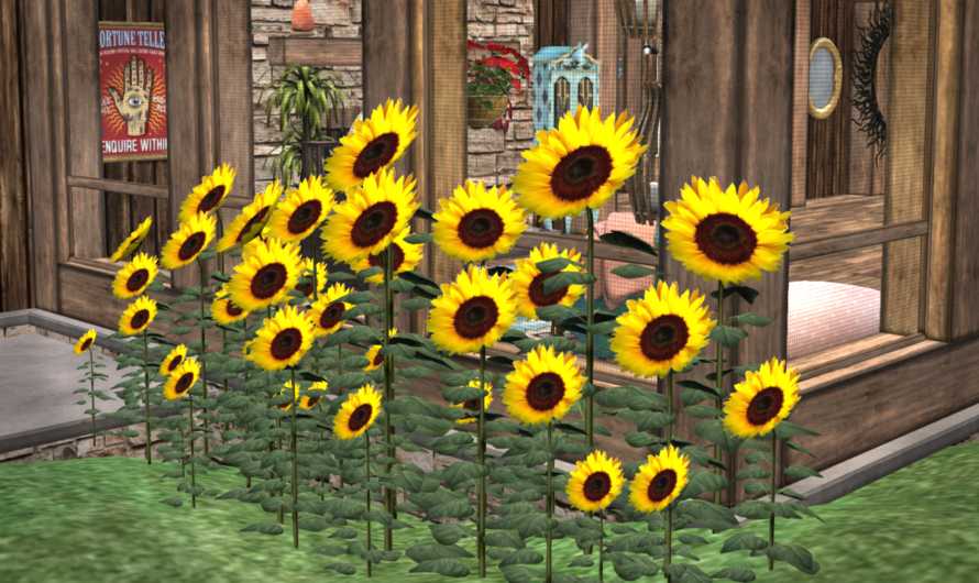 Mesh Sunflower Cluster