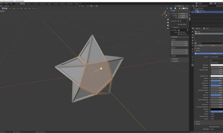 Modelling Star in Blender